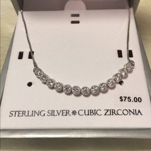 Jewelry - Sterling Silver Bracelet with Cubic Zirconia